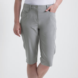 Nivo Women's Madison Bermuda Long Shorts in Light Grey at The Golf Outfit Product Image Front NI8210410_061