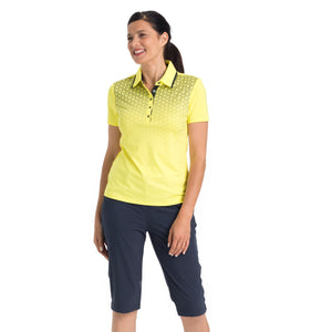 Nivo Women's Madison Bermuda Long Shorts in Navy at The Golf Outfit Model Image Front NI8210410_400