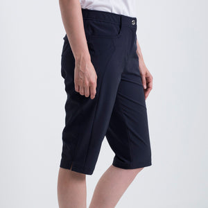 Nivo Women's Madison Bermuda Long Shorts in Navy at The Golf Outfit Product Image Side NI8210410_400