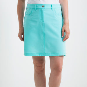 Nivo Women's Marika Angel Blue Stretch Golf Skort Product Image Front NI8210610_476