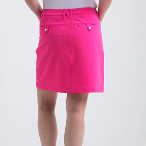 Nivo Women's Marika Energy Pink Golf Skort Product Image Back NI8210610