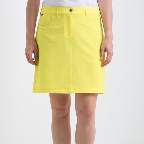 Nivo Women's Marika Lemon Stretch Golf Skort Product Image Front NI8210610_731