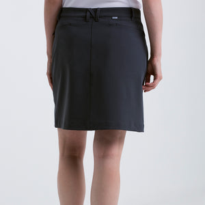Nivo Women's 'Nadia' Pull-on Charcoal Golf Skort Model Back NI8210611