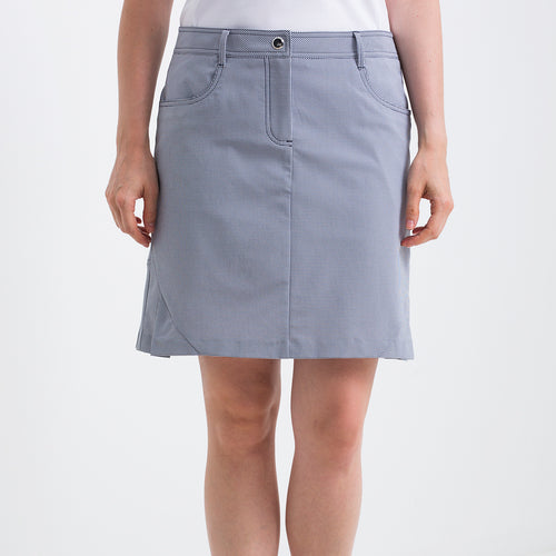 Nivo Women's Nadine Navy Gingham Check Golf Skort Product Image Front NI8210630_400