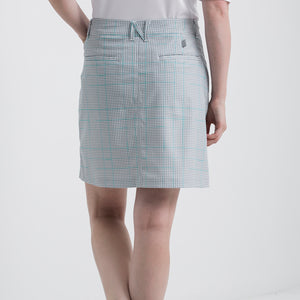 Nivo Women's Vanna Light Grey Check Golf Skort Product Image Back NI8210620