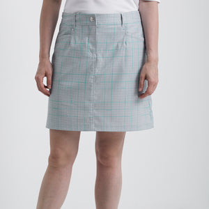 Nivo Women's Vanna Light Grey Check Golf Skort Product Image Front NI8210620