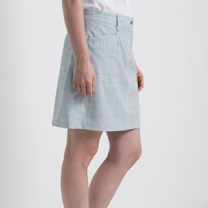 Nivo Women's Vanna Light Grey Check Golf Skort Product Image Side NI8210620