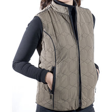 PJs Ladies Full Zip Coffee Gilet Product Image Front