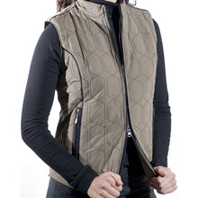 PJs Ladies Full Zip Coffee Gilet Product Image Zip