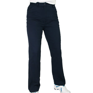 PJs Navy Cotton Stretch Trousers Product Image Front