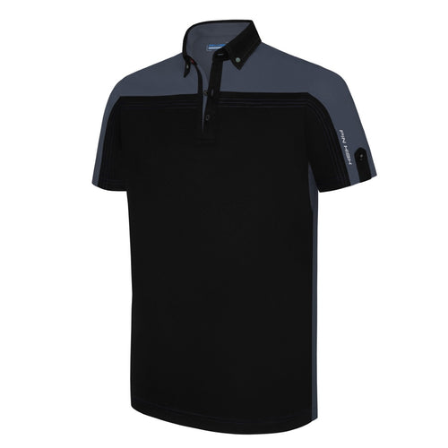 Pin High Men's Black Rodwell Golf Polo Shirt Product Image Front