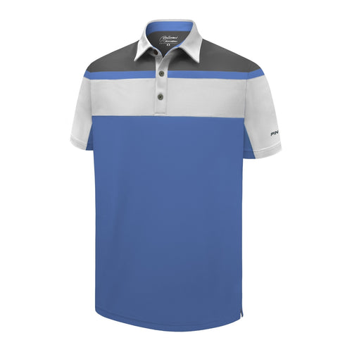 Pin High Men's Blue Kennedy Golf Polo Shirt Product Image Front