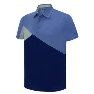 Pin High Men's Blue Marvo Golf Polo Shirt Product Image Front