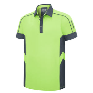 Pin High Men's Green Rafael Golf Polo Shirt Product Image Front