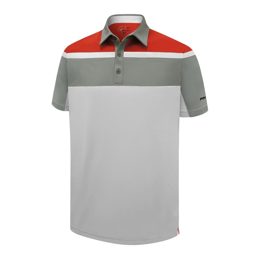 Pin High Men's White Kennedy Golf Polo Shirt Product Image Front