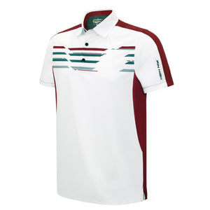 Pin High Men's White Lennox Golf Polo Shirt Product Image Front