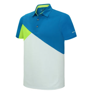 Pin High Men's White Marvo Golf Polo Shirt Product Image Front