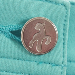 SG14301 Green Lamb Ladies Tracey Blue Pedal Pusher Capris Product Image Button Detail