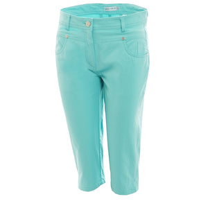 SG14301 Green Lamb Ladies Tracey Blue Pedal Pusher Capris Product Image Front