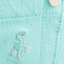 SG14301 Green Lamb Ladies Tracey Blue Pedal Pusher Capris Product Image Logo Detail
