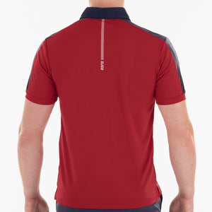 SL20011 Sligo Mens Teddy Red Interlock Polo Shirt Product Image Rear