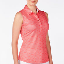 NI9210124 Nivo Women's Gillian Sunkist Coral Sleeveless Polo Shirt Product Image Side