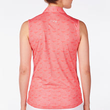 NI9210124 Nivo Women's Gillian Sunkist Coral Sleeveless Polo Shirt Product Image Back