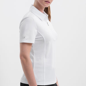 NI8210100 Nivo Women's Natasha White Essentials Polo Shirt Product Image Side