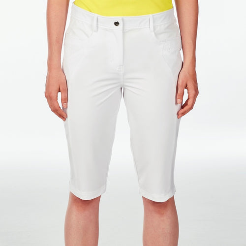 NI8210410 Nivo Women's Madison White Essentials Long Short Product Image Front