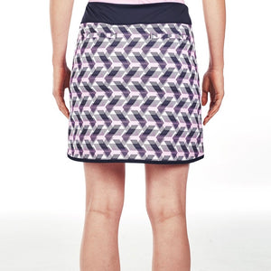 NI9210620 Nivo Women's Ava Navy Patterned Skort Product Image Back