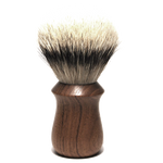 Sam & Son - 28mm Silvertip Round in Teak Handle + Leather Travel Wrap