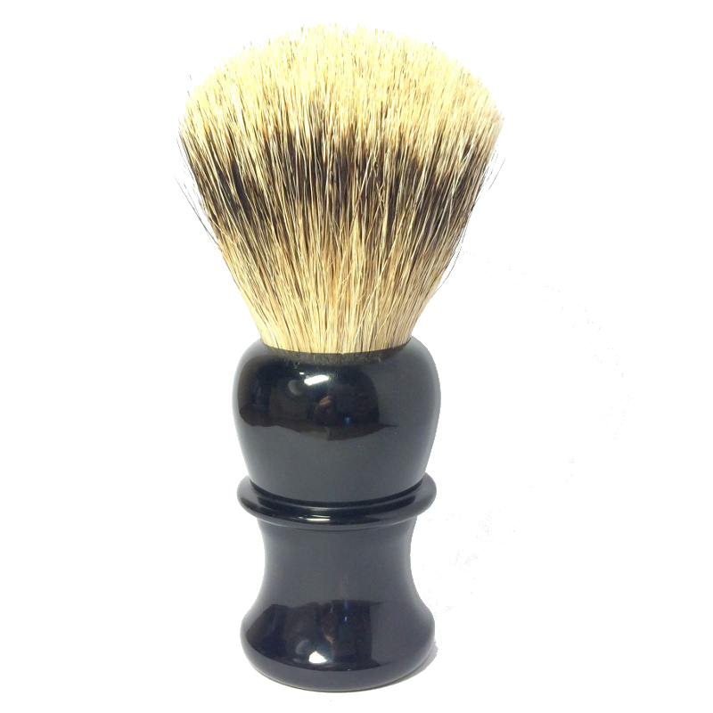Thiers Issard - 26mm Silvertip Shaving Brush - Black Horn + Travel Wrap