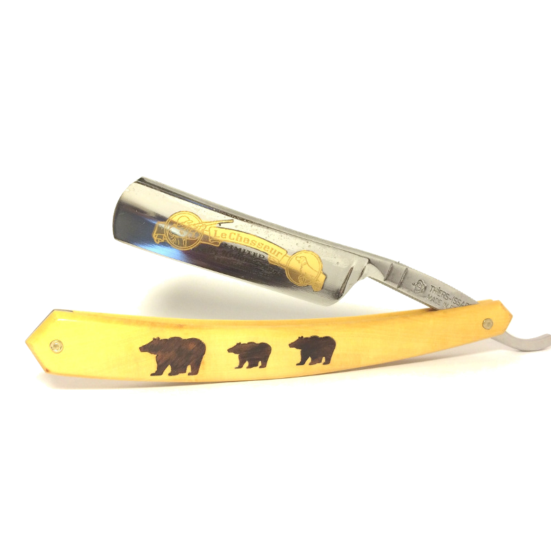 3 Bear, 5/8 Le Chasseur Straight Razor, Theirs Issard