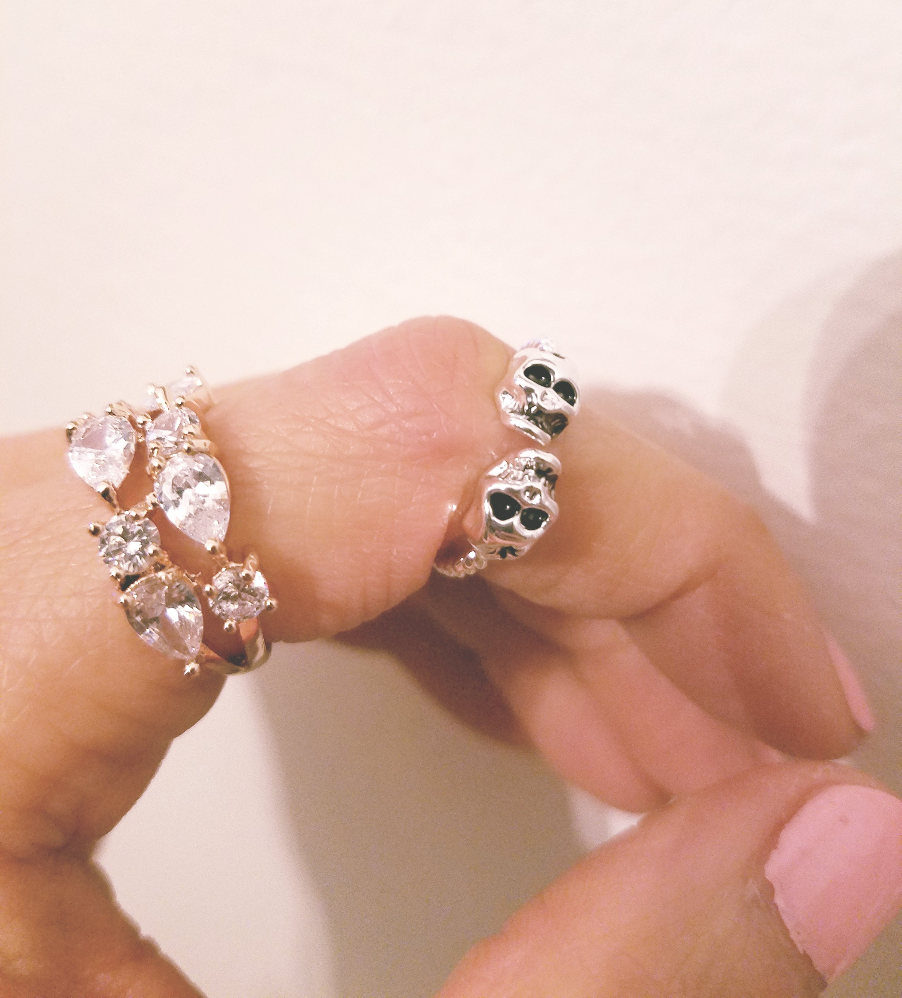 Rose Gold Bejeweled Cluster Crystal Band Ring