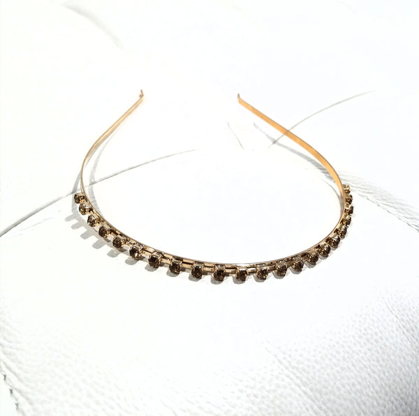 Gold Bejeweled Skinny Crystal Headband