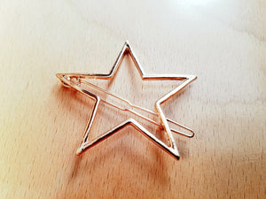 Gold Star Hair Pin