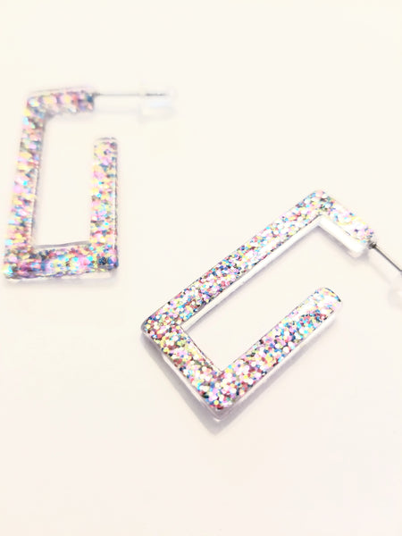 Glitter Goals Acrylic Rectangle Hoop