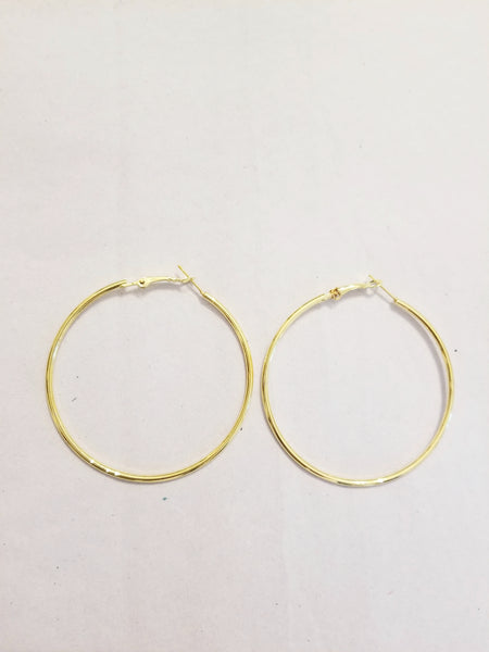 Big 18K gold plated hoop earrings