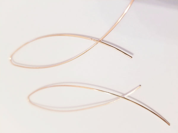 Rose Gold Essential Minimalist Threader Earrings