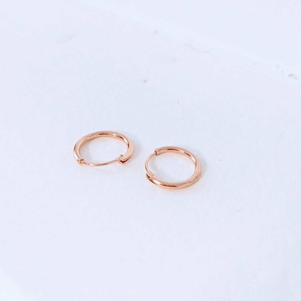 14K Gold Classic Small Endless Hoop Earrings