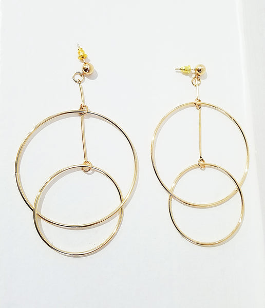 14 K Gold Orbital Statement Earring
