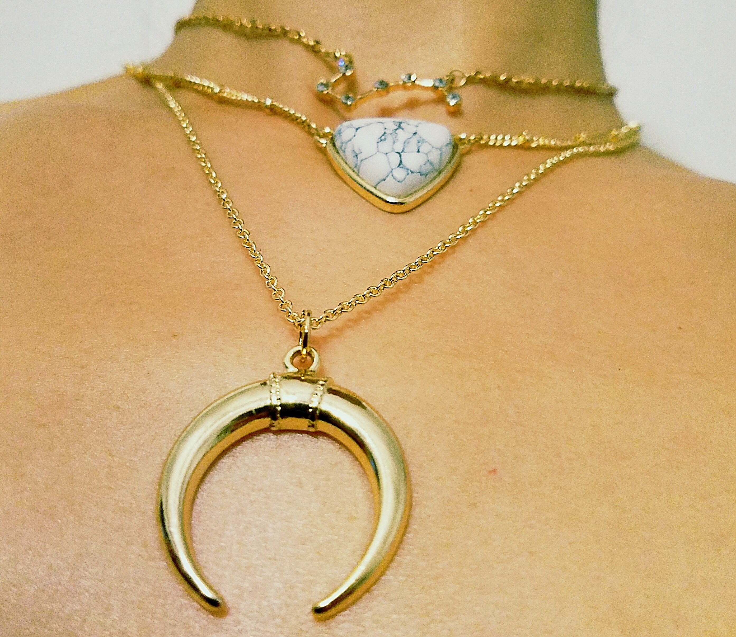Rock N' Horn Necklace