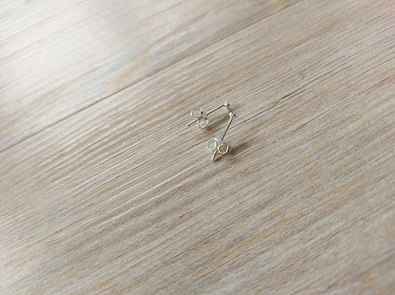 1 MM Teeny Tiny 925 Sterling Silver Birthstone Stud