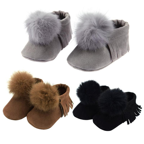 Bubba Baby Pom Pom Tassel Shoes