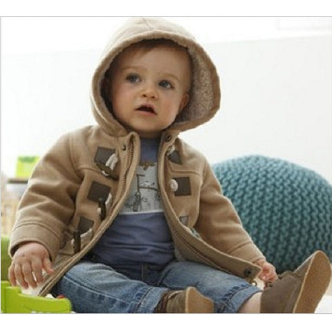Bubba Hooded Wool Winter Coat for boys