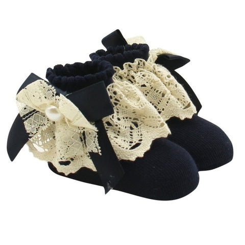 Bubba Lace Princess Bowknot Socks
