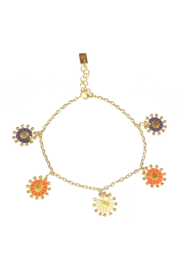 Artisun Orange Blue Sunburst Bracelet