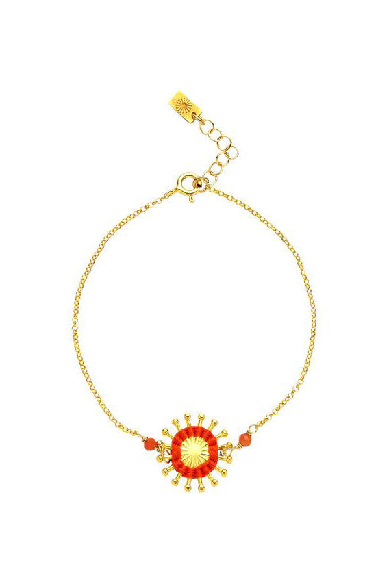 Artisun Orange Sunburst Bracelet