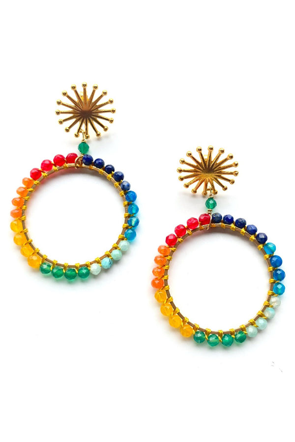 Artisun Rainbow Bead Hoops
