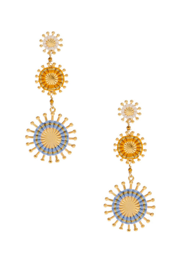 Artisun Triple Blue Sunburst Earrings